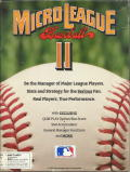 MicroLeague Baseball II DOS Front Cover