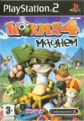 Worms 4: Mayhem PlayStation 2 Front Cover