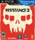 Resistance 3 PlayStation 3 Front Cover