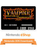 Vampire: Master of Darkness Nintendo 3DS Front Cover