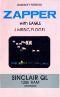 Zapper with Eagle Sinclair QL Front Cover