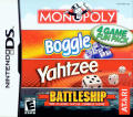 4 Game Fun Pack: Monopoly / Boggle / Yahtzee / Battleship Nintendo DS Front Cover