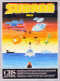 SubRoc 3-D ColecoVision Front Cover
