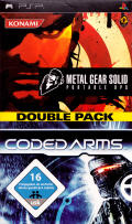 Metal Gear Solid: Portable Ops + Coded Arms (Double Pack) PSP Front Cover