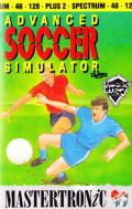 Advanced Soccer Simulator ZX Spectrum Front Cover