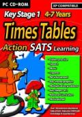 Action SATS Learning: Key Stage 1 4-7 Years: Times Tables Windows Front Cover