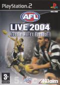 AFL Live 2004 PlayStation 2 Front Cover