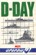 D-Day MSX Front Cover