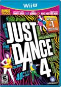 Just Dance 4 Wii U Front Cover
