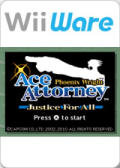 Phoenix Wright: Ace Attorney - Justice for All Wii Front Cover