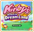 Kirby's Return to Dream Land Wii U Front Cover