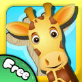 Animal Puzzle: Drag 'n' Drop iPad Front Cover Free version