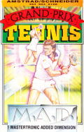 Grand Prix Tennis Amstrad CPC Front Cover
