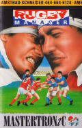 Rugby Manager Amstrad CPC Front Cover