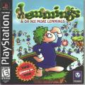Lemmings & Oh No! More Lemmings PlayStation Front Cover