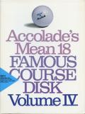Accolade's Mean 18: Famous Course Disk - Volume IV DOS Front Cover