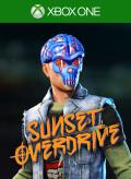 Sunset Overdrive: Grey Splatter Helmet Xbox One Front Cover 1st version