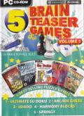 5 Brain Teaser Games: Volume 1 Windows Front Cover