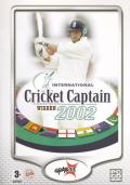 International Cricket Captain 2002 Windows Front Cover