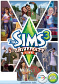 The Sims 3: University Life Macintosh Front Cover