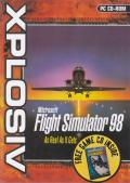 Microsoft Flight Simulator 98: Xplosiv release Windows Front Cover Motocross Madness 2 is advertised by a sticker on the front of the keep case