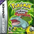 Pokémon LeafGreen Version Game Boy Advance Front Cover