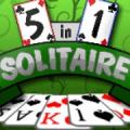 5 in 1 Solitaire PlayStation 3 Front Cover