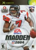 Madden NFL 2004 Xbox Front Cover