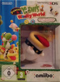Poochy & Yoshi's Woolly World (Yarn Poochy Amiibo Bundle) Nintendo 3DS Front Cover