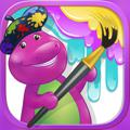 Color with Barney iPad Front Cover