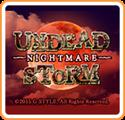 Undead Storm Nightmare Nintendo 3DS Front Cover