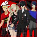 Persona 5: Regular Clothes & School Uniforms Set PlayStation 3 Front Cover