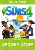 The Sims 4: Spooky Stuff Macintosh Front Cover