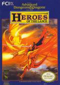 Heroes of the Lance NES Front Cover