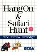 Hang On & Safari Hunt SEGA Master System Front Cover