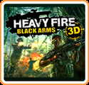 Heavy Fire: Black Arms 3D Nintendo 3DS Front Cover
