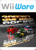 3D Pixel Racing Wii Front Cover