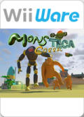 A Monsteca Corral: Monsters vs. Robots Wii Front Cover
