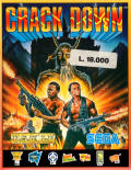 Crack Down Amstrad CPC Front Cover