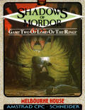 The Shadows of Mordor Amstrad CPC Front Cover