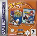 2 Games in 1: Sonic Pinball Party + Sonic Battle Game Boy Advance Front Cover