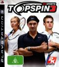 Top Spin 3 PlayStation 3 Front Cover