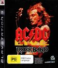 AC/DC Live: Rock Band - Track Pack PlayStation 3 Front Cover