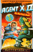 Agent X II: The Mad Prof's Back! Amstrad CPC Front Cover