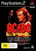 AC/DC Live: Rock Band - Track Pack PlayStation 2 Front Cover