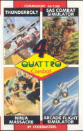Quattro Combat Commodore 64 Front Cover