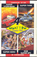 Quattro Super Hits Commodore 64 Front Cover