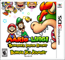 Mario & Luigi: Bowser's Inside Story + Bowser Jr's Journey Nintendo 3DS Front Cover 1st version