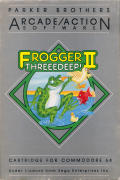 Frogger II: ThreeeDeep! Commodore 64 Front Cover