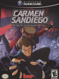 Carmen Sandiego: The Secret of the Stolen Drums GameCube Front Cover